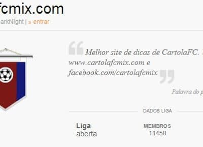Giro nas LIGAS do Cartola FC Mix – 3ª Rodada
