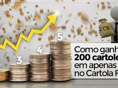 Como ganhar cartoletas no Cartola FC 2017: ganhe C$200 em apenas 5 rodadas!