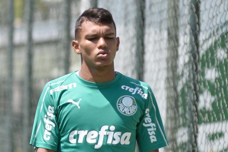 Gabriel Veron, atacante do Palmeiras.