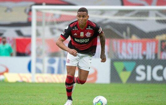 Natan, zagueiro do Flamengo.