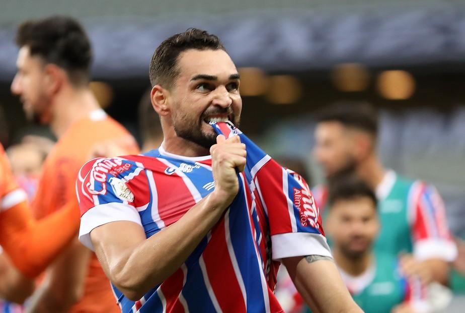 Gilberto, atacante do Bahia.
