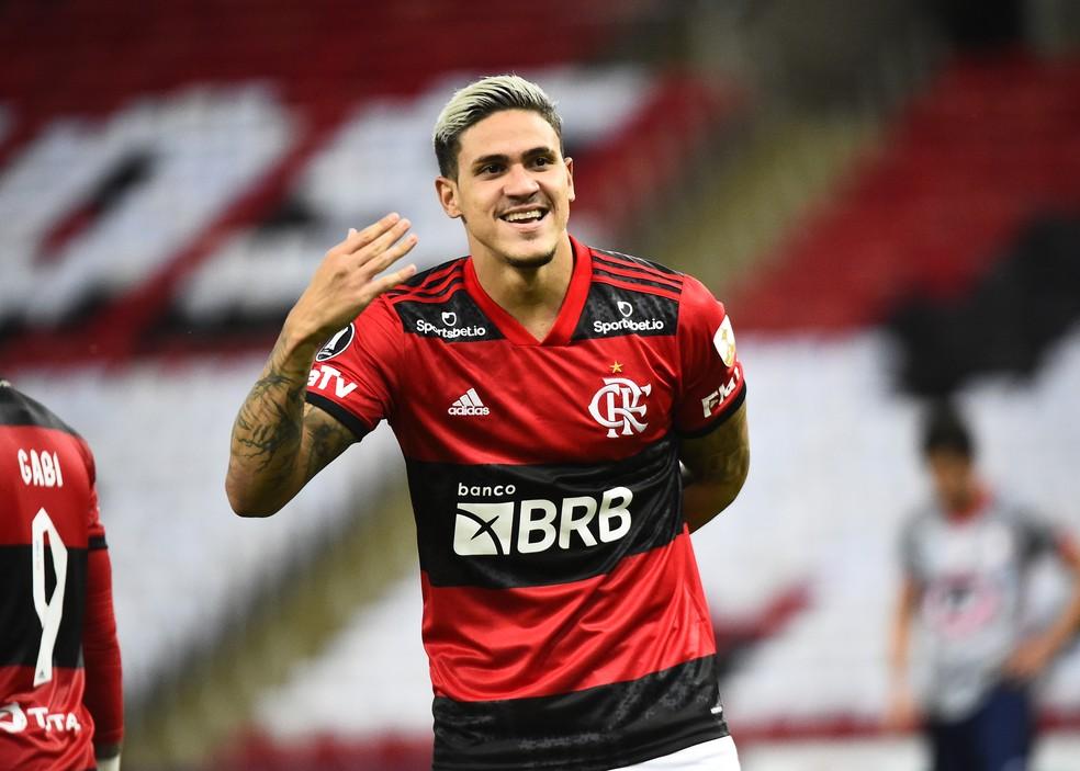 Pedro, atacante do Flamengo.